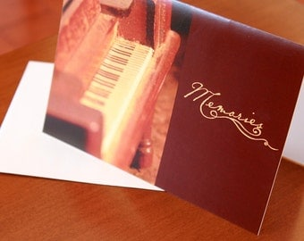 Memories Antique Piano Greeting Card-5x7 Blank