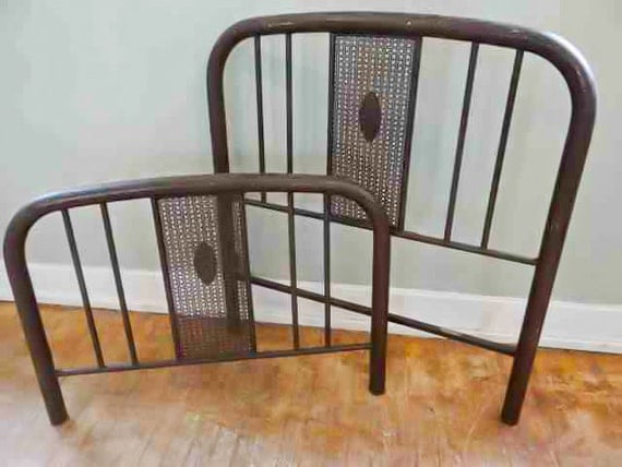 antique simmons iron bed frame headboard footboard rails twin bed