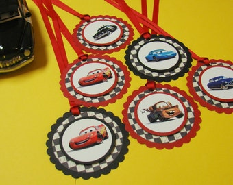 Disney Cars Gift/Favor Tags - 12 per pack - Handmade - Customizable