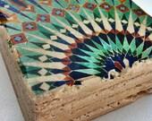 Moroccan Mosaic Tile Coaster Set of Four
