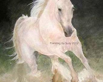 """Print """"White Stallion"""" 16x20"""""""