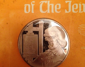 Collectible Bronze Proof Medallic History of Jewish People S. N. CARVALHO