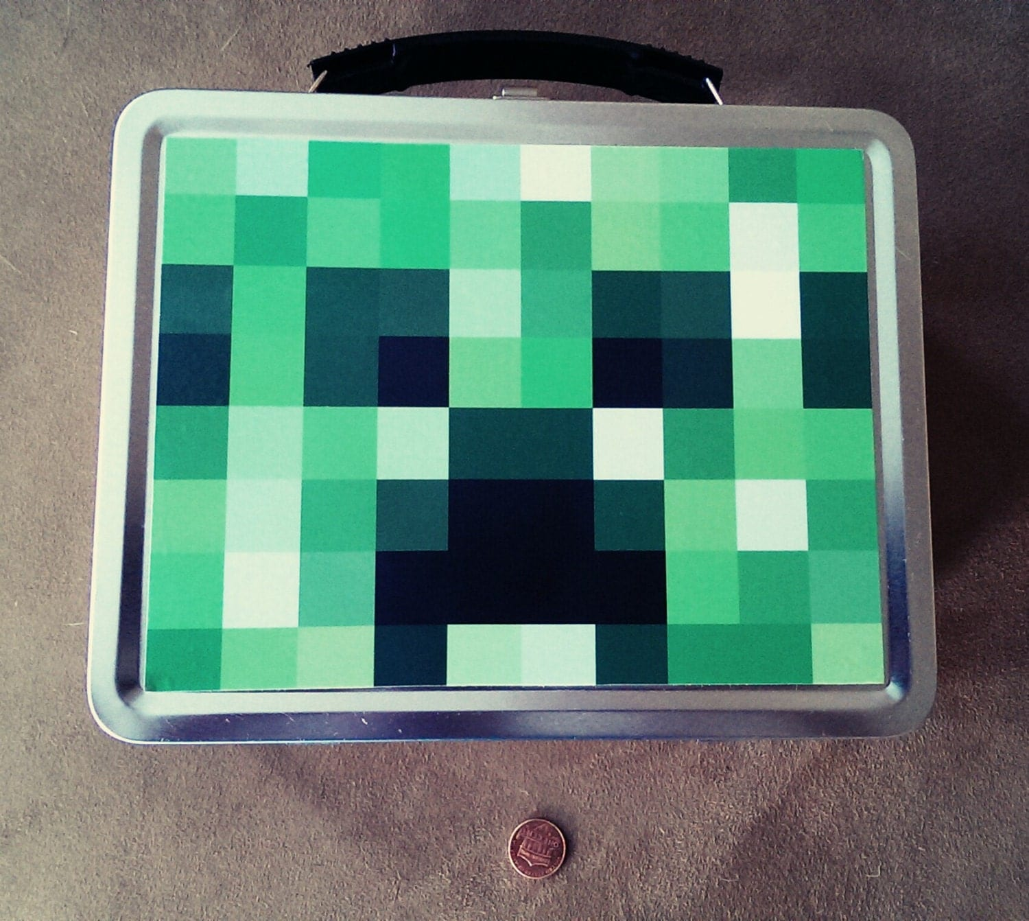 Minecraft Creeper Lunch Box By Minecrafting On Etsy