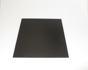 "2 Black ABS Plastic Sheet 12"" x 12"" x 1/8"" Customize / Hobby / Arts & Crafts"