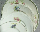 SALE** Mis-Match FLORAL China Plates ~ Mix-Match Cake Side Plate with Flowers ~ Country Cottage ~ Shabby Chic Dessert Plates