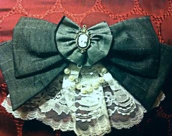 Gothic Lolita hair clip and brooch