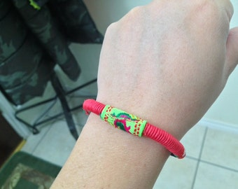 Chinese bracelet, colorful bracelet with chinese ethnical features.