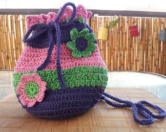 Crochet Bag For Girl : Jelly Bean Crochet bag for little girls design by ThingsOfCrochet