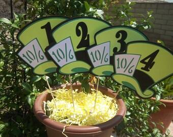 MADhatter Table Numbers/Alice inwonderland