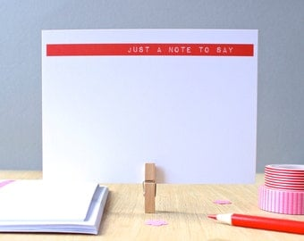 Just A Note To Say Printed Notecards Set