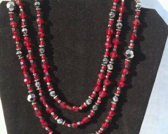 2 ways to wear beaded necklace