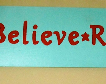 Ask Believe Receive - Wood Sign, Shabby Chic