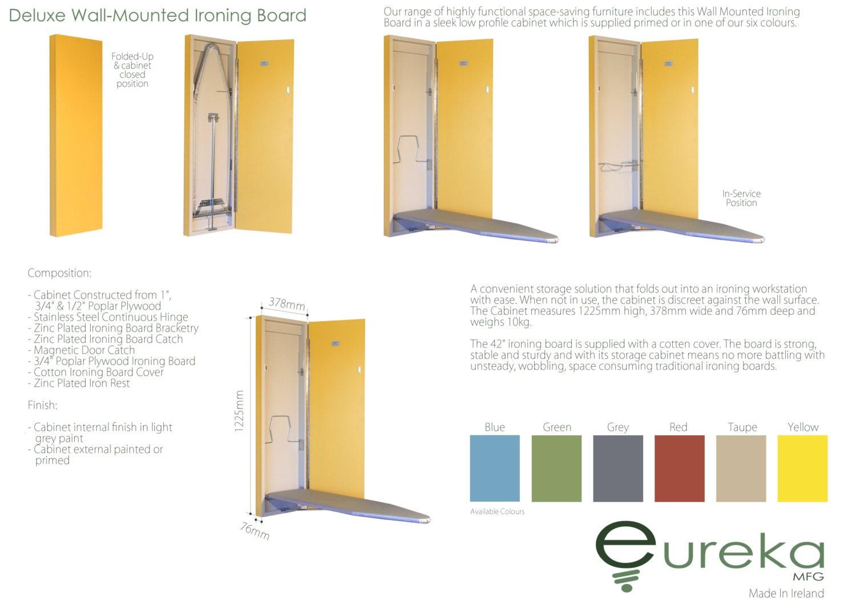 eur ka mfg planche repasser murale deluxe peint edition. Black Bedroom Furniture Sets. Home Design Ideas