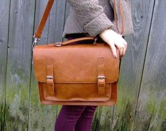 Leather messenger bag,  leather satchel, handmade leather bag, leather shoulder bag