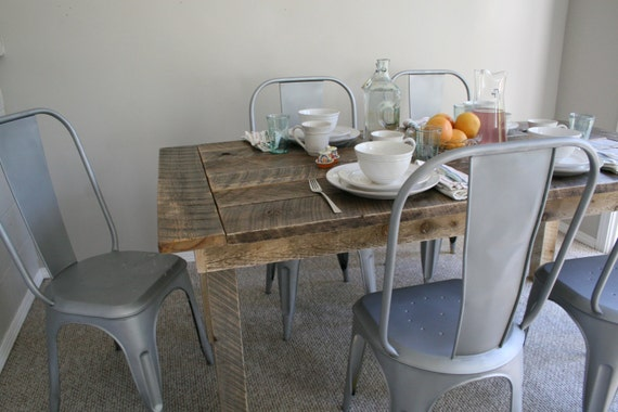 reclaimed table reclaimed barn wood kitchen table by