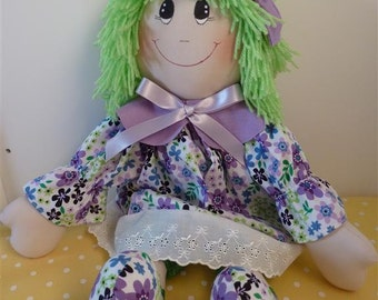 Emerald is a beautiful handmade Rag doll