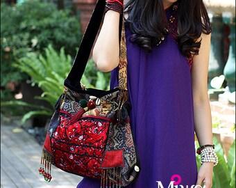 Miya's Original Ethnic Hmong Embroidered Bag  Purse Shoulderbag - Festivity