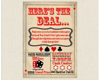 Here's The Deal Poker Invitation