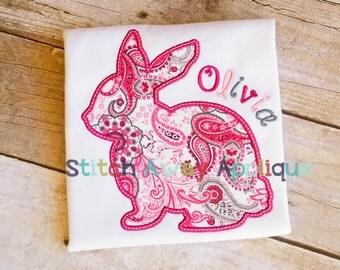 Easter Bunny Silhouette Machine Applique Design
