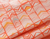 Geos Bright Mandarin, Meadow, Art Gallery Fabrics, Quilting Weight Cotton Fabric