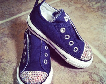 Low Top Simple Slip Converse with AB crystals