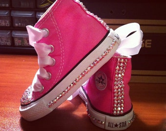 High Top Bling Converse with AB Crystals All Around