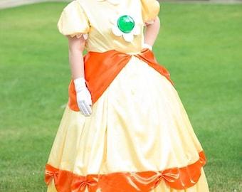 Nintendo Princess Daisy Cosplay Costume Custom Made