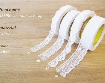 Cotton Lace Adhesive Tape // 4 Types [ 25 - 28 ]