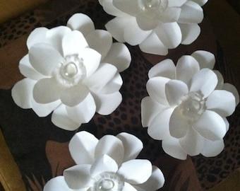 "Heavyweight paper flower Magnolia - (set of 4) - ""Still Magnolias"""