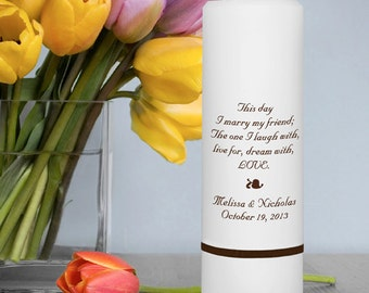 Wedding Candles - Personalized Wedding Candles  - Unity Candles - GC305 B2