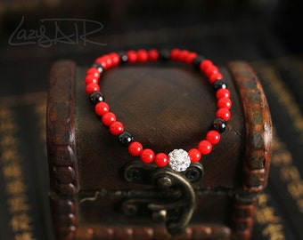 Tibetan redstone magic ball bracelet 6667