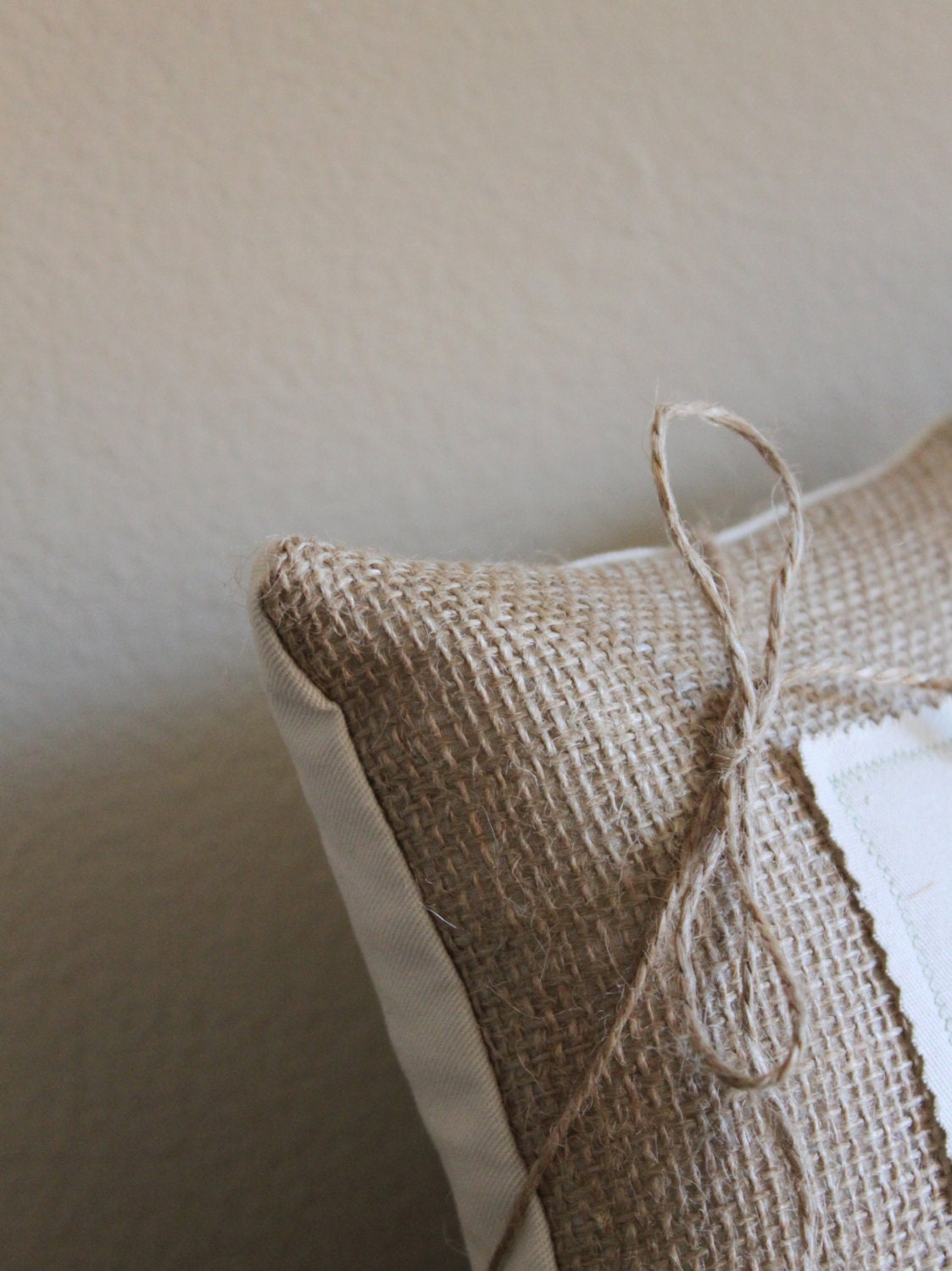 Hawaii State Ring Bearer Burlap Pillow By