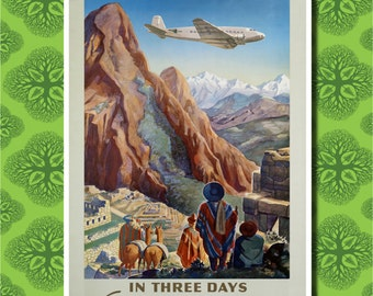 Peru Travel Poster Wall Decor (7 print sizes available)
