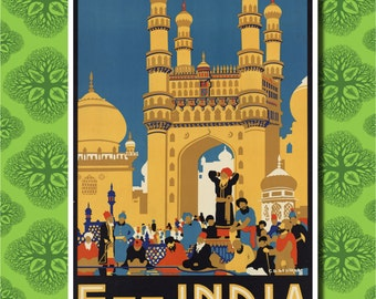 See India Travel Poster Wall Decor (7 print sizes available)