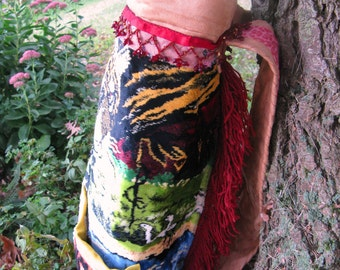 Was 268.00 Now 188.00 Jungle Tapestry Backpack Gypsy Boho HippieTote Bag