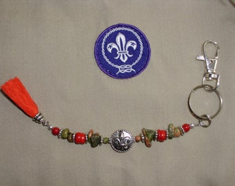 BOY SCOUT Beaded Key Chain (#21101)