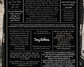 Tony Robbins Quote Collection Poster