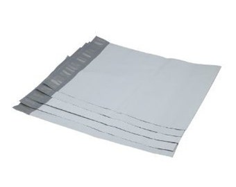 50 Small 6 x 9 White Flat Poly Mailers, Self Sealing, Shipping Bags, Plastic Mailing Bags, Shipping Supplies, Shipping Envelope