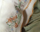 Vintage hand stitched standard pillow case