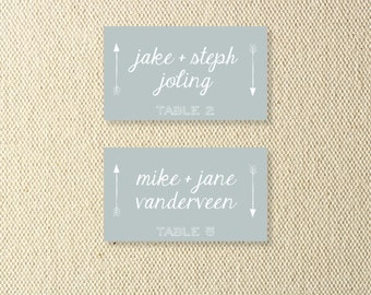 Printable Wedding Arrow Place Cards