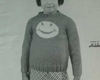 Children's Fashions in Wool styled by Hilde Volume 124 - 13 Patterns Simple Instructions Knitting and Crocheting Vintage Staple Binding 1971