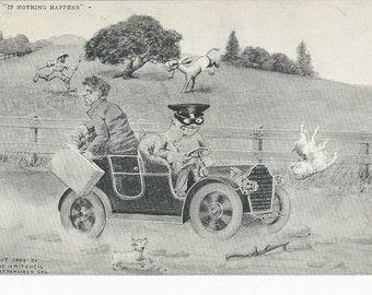 1905 Beautiful Edward Mitchell Comic Postcard