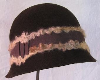 Chocolate Brown Cloche Hat