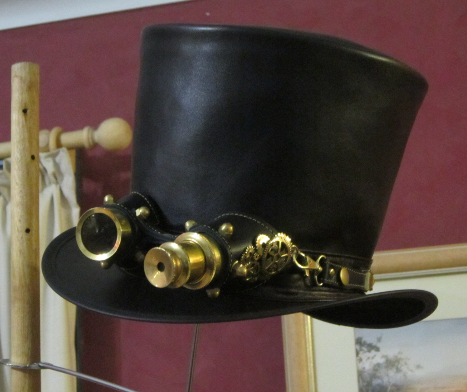 Remarkable Australian Hand Crafted Black Leather Mens Steampunk Hairstyles For Men Maxibearus