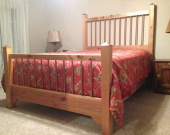 Unique King or Queen custom Western Cedar bed