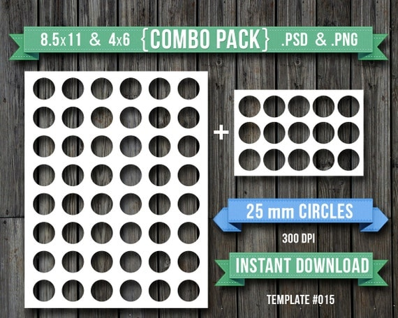 25mm round 25 mm circle blank digital collage sheet 4x6 and. Black Bedroom Furniture Sets. Home Design Ideas