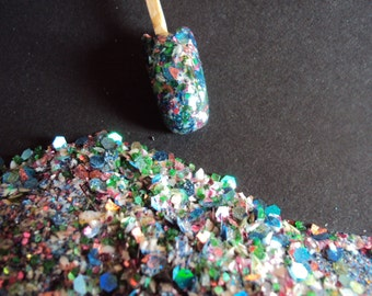 Nail Art Acrylic Gel Glitter Mix   EARTH