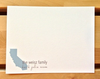 Personalized Stationary - Any State or Country - Love Your State