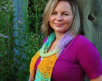 Sunset Crochet Scarf
