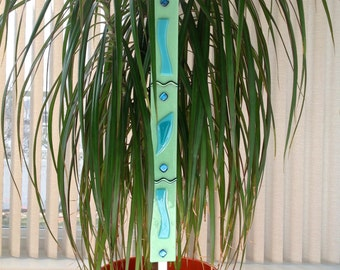 "Fused Glass Garden Stake ""Yard Stick"""